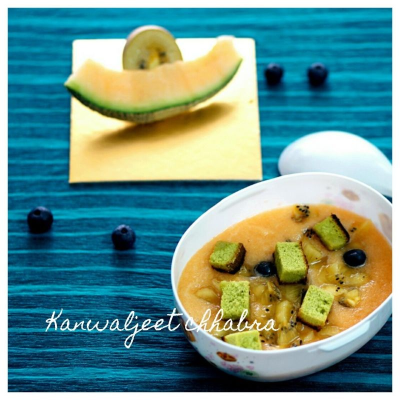 soup when soups are as colourful as this cantaloupe fruit soup ...