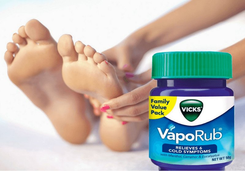 vicks on feet hindi