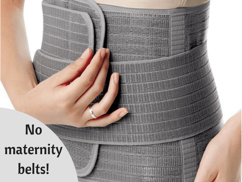 maternity belt c-section english
