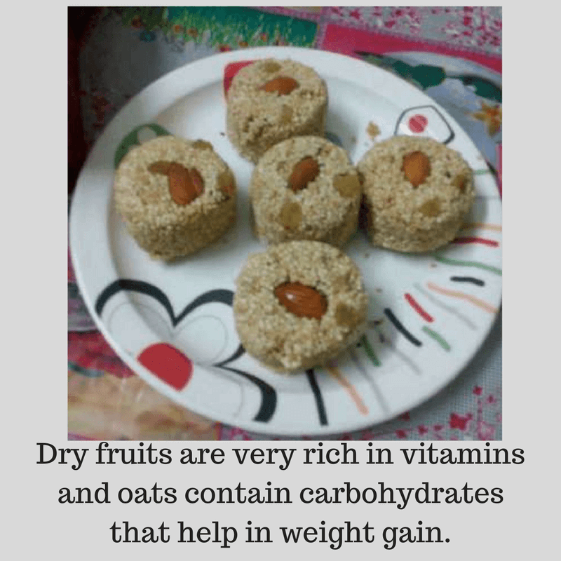 dry fruit laddoo weight gain english