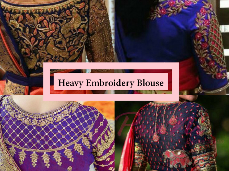 heavy embroidery blouse