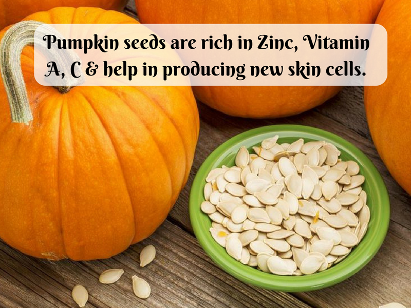 pumpkin seeds skin glow english