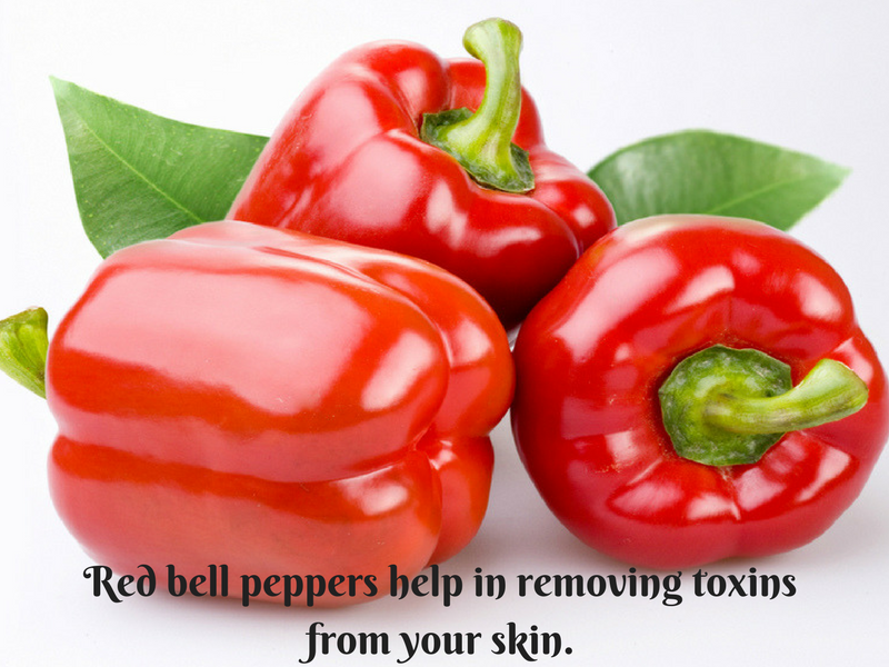 red bell pepper skin glow english