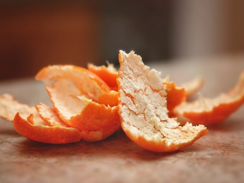 orange peel -for clean underarm